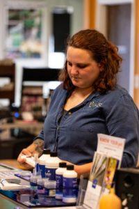 Associate working in store